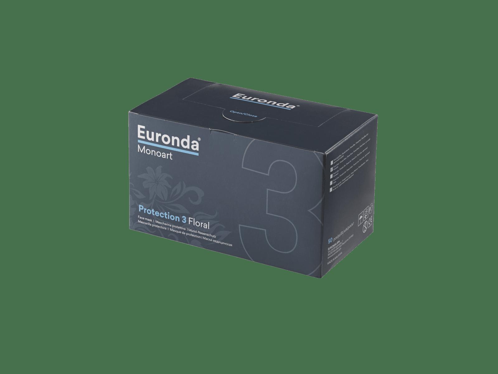 Euronda Mundschutz-Box Pro 3 Flower - 50 Stück
