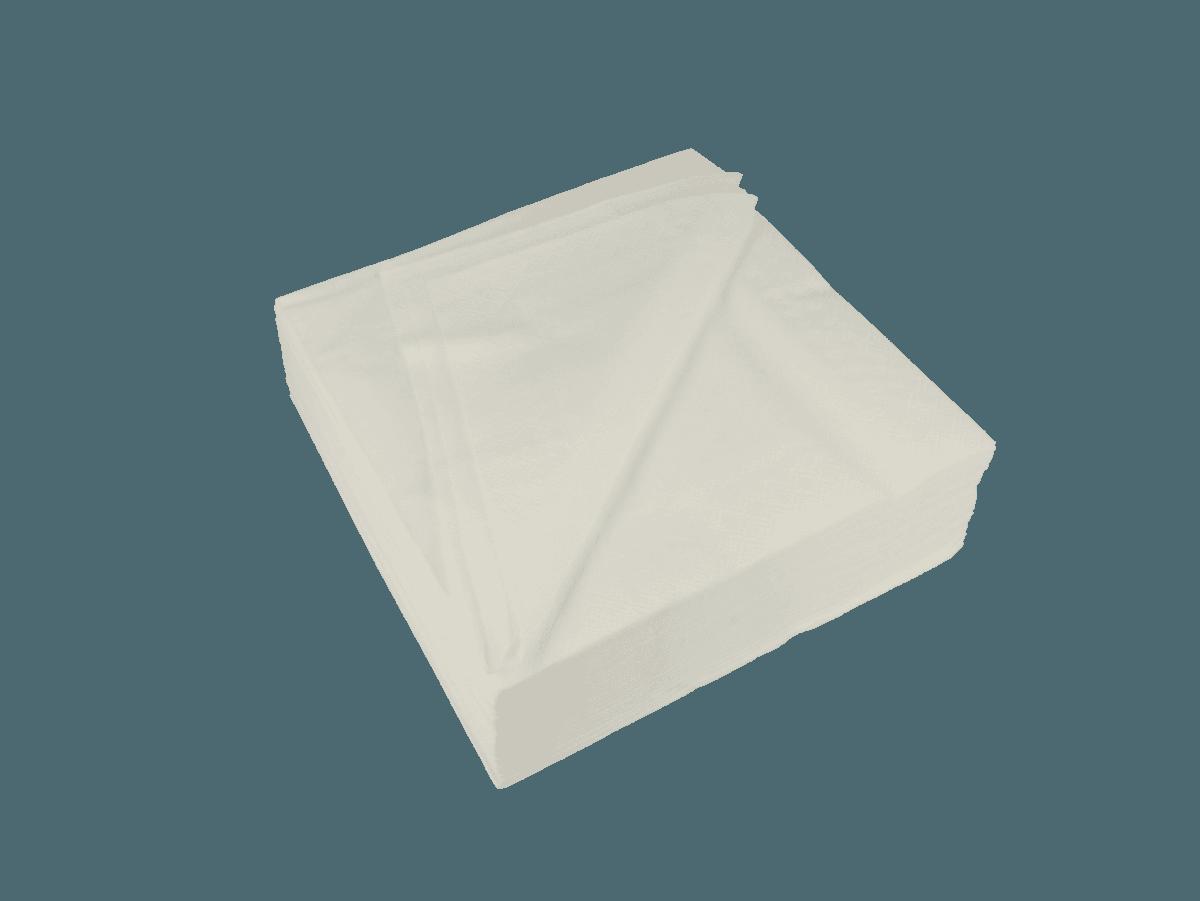 Komfort-Zelltuchservietten weiß mit vier Lagen