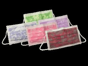 Monoart Mundschutz Pro 3 Flower, mit Gummizug