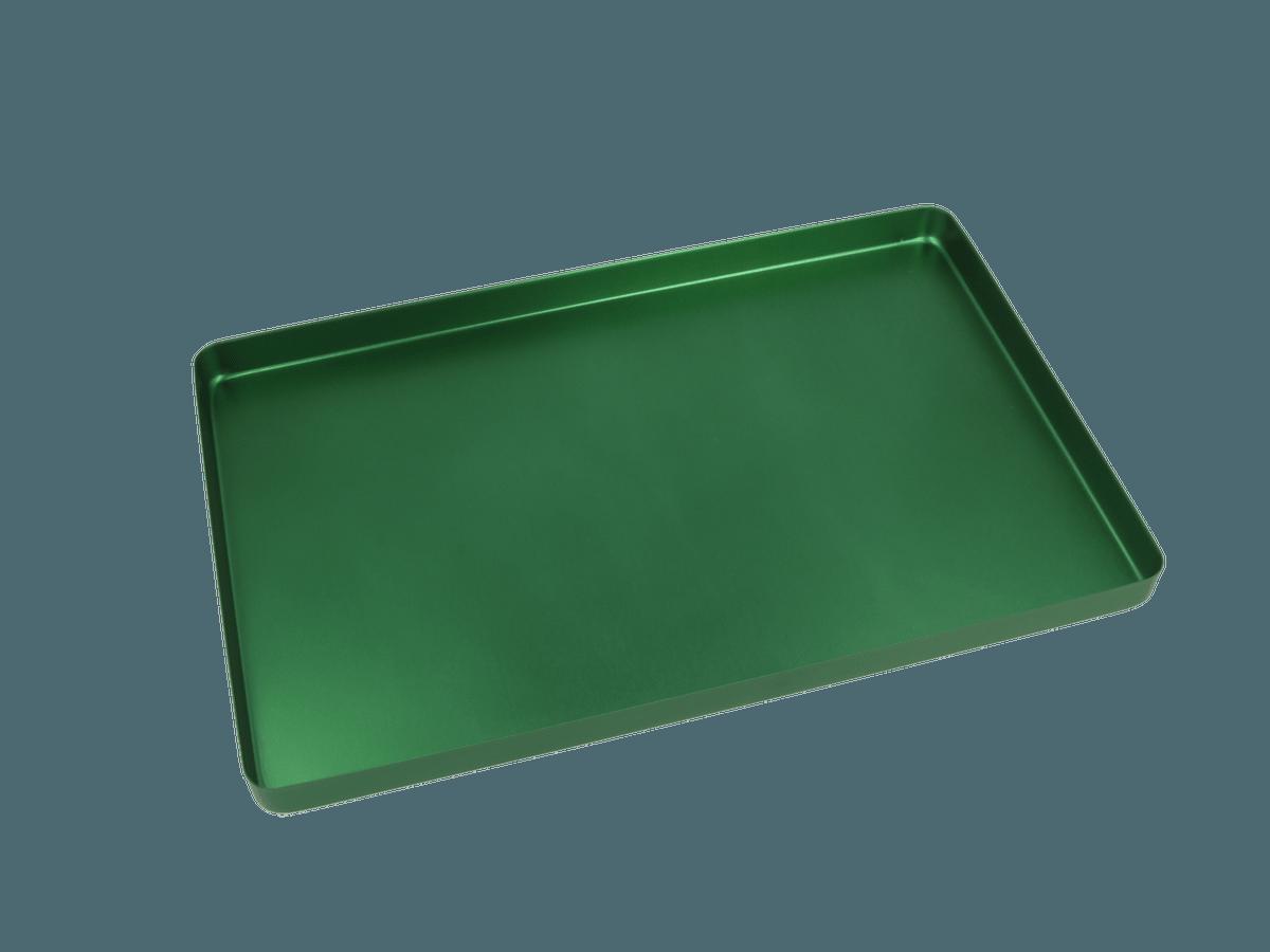 Euronda Aluminium Normtray, 18x28cm, grün