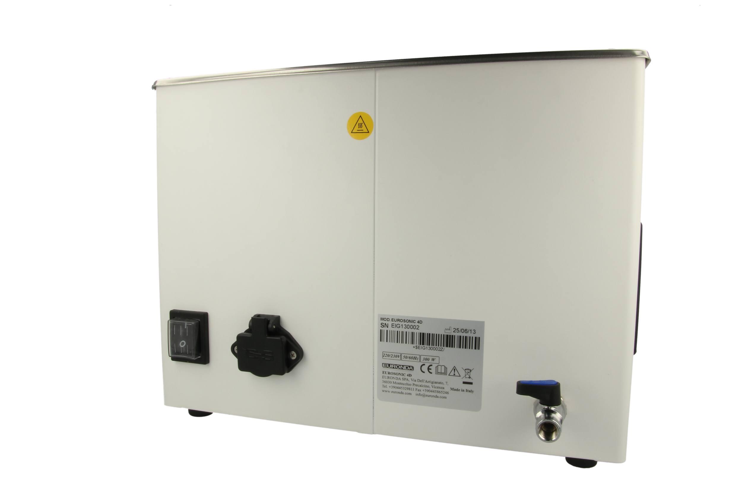 Eurosonic Ultraschallreinigungswanne 4D mit Wasserablauf