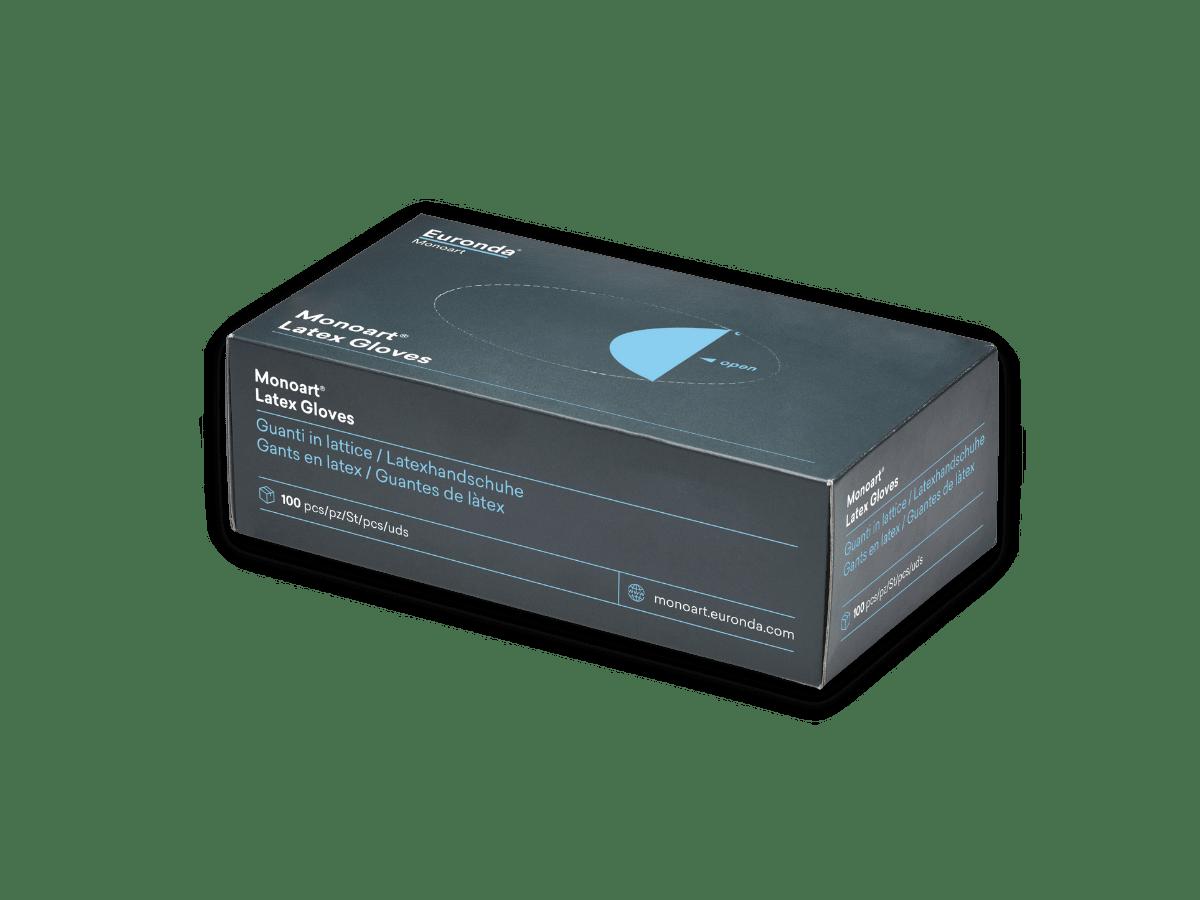 Monoart Latexhandschuhe 100 Stück Spenderbox