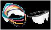 Monoart Einmalbrille mit 5 farbigen Bügeln