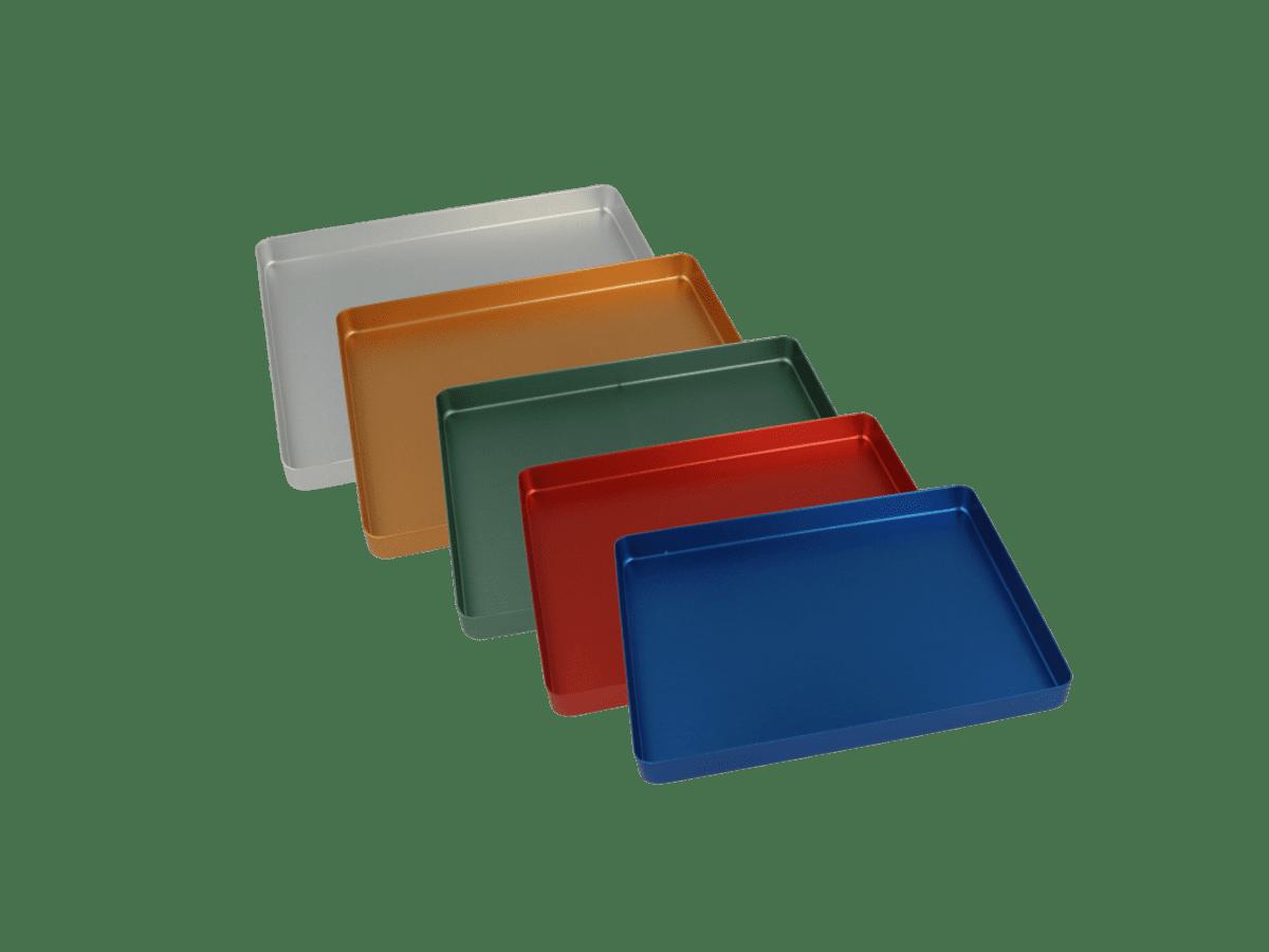 Euronda Minitrays 18 x 14 cm Traytabletts Aluminium