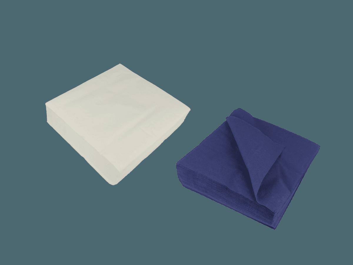 Monoart Zelltuschservietten mehrlagig blau oder weiß