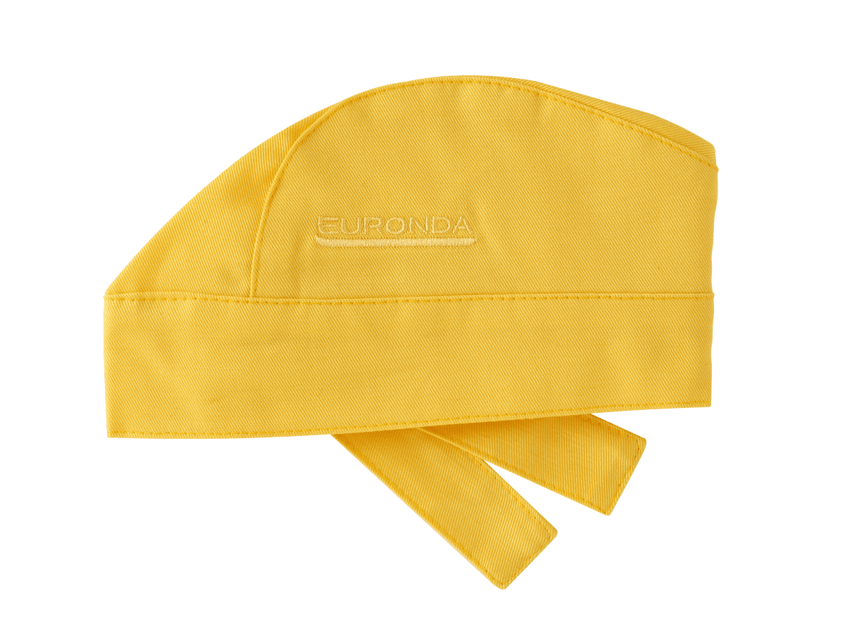 Bandana Kopftuch gelb waschbar sterilisierbar