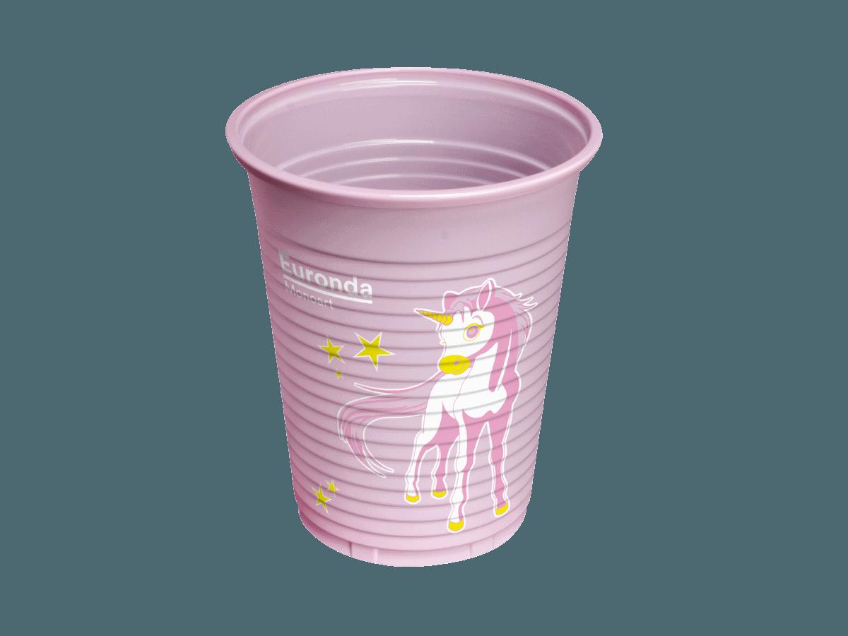 Monoart Einhornbecher rosa
