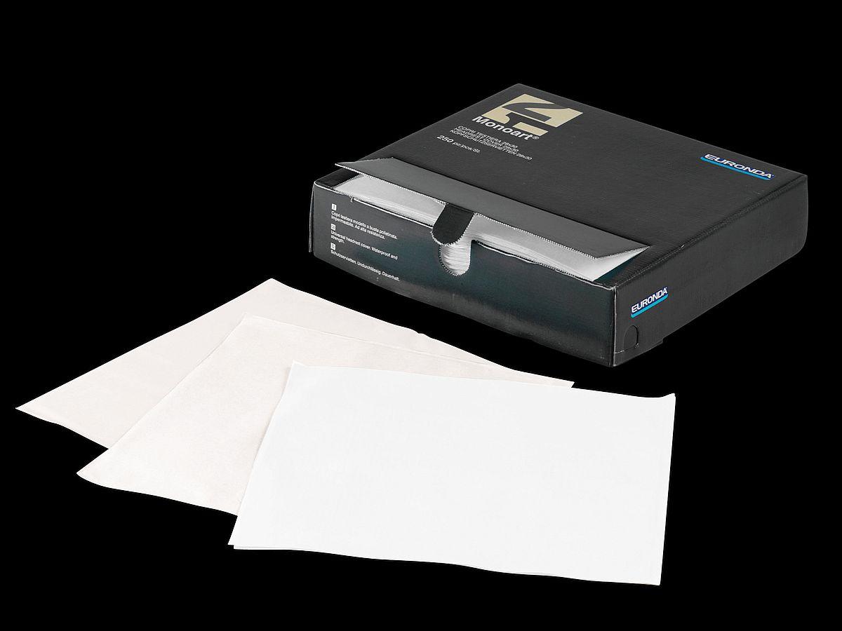 Monoart Kopfschutztaschen weiss - 250 Stück Spenderbox