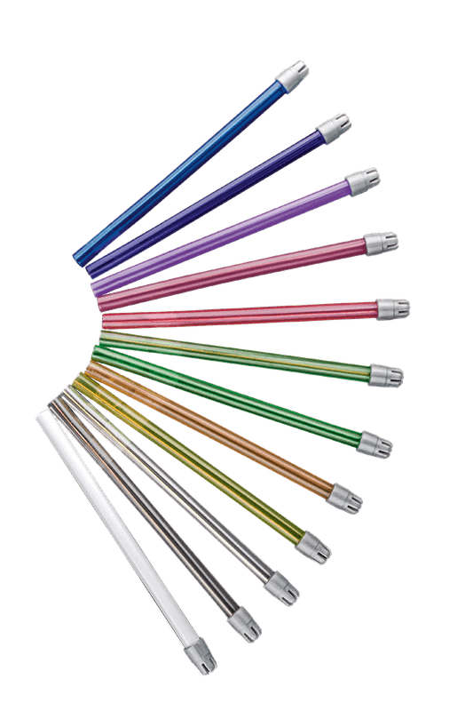 Monoart Speichelsauger 125 mm, dreizehn Farben