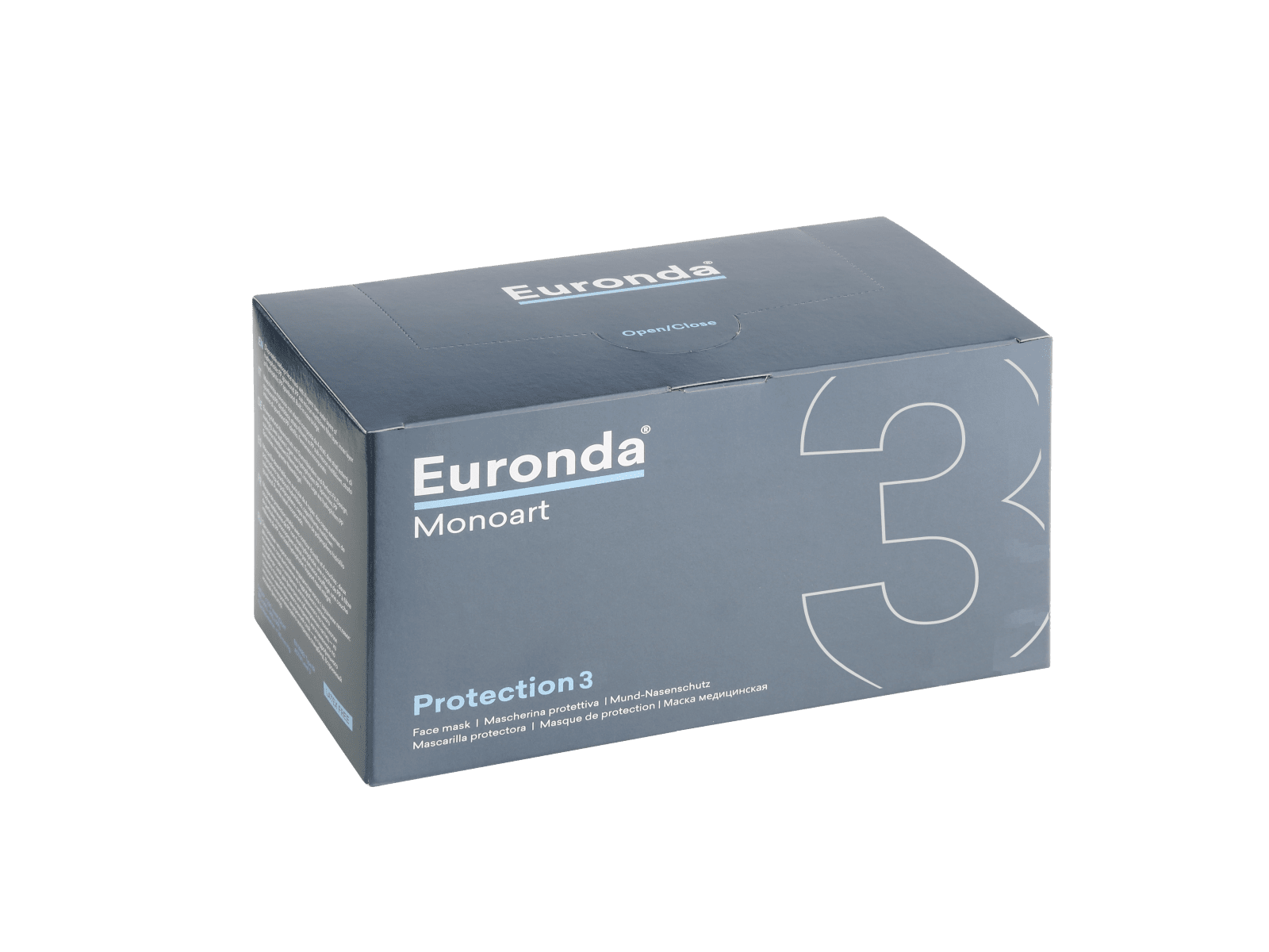Euronda Mundschutz-Box 50 Stück 3-lagig