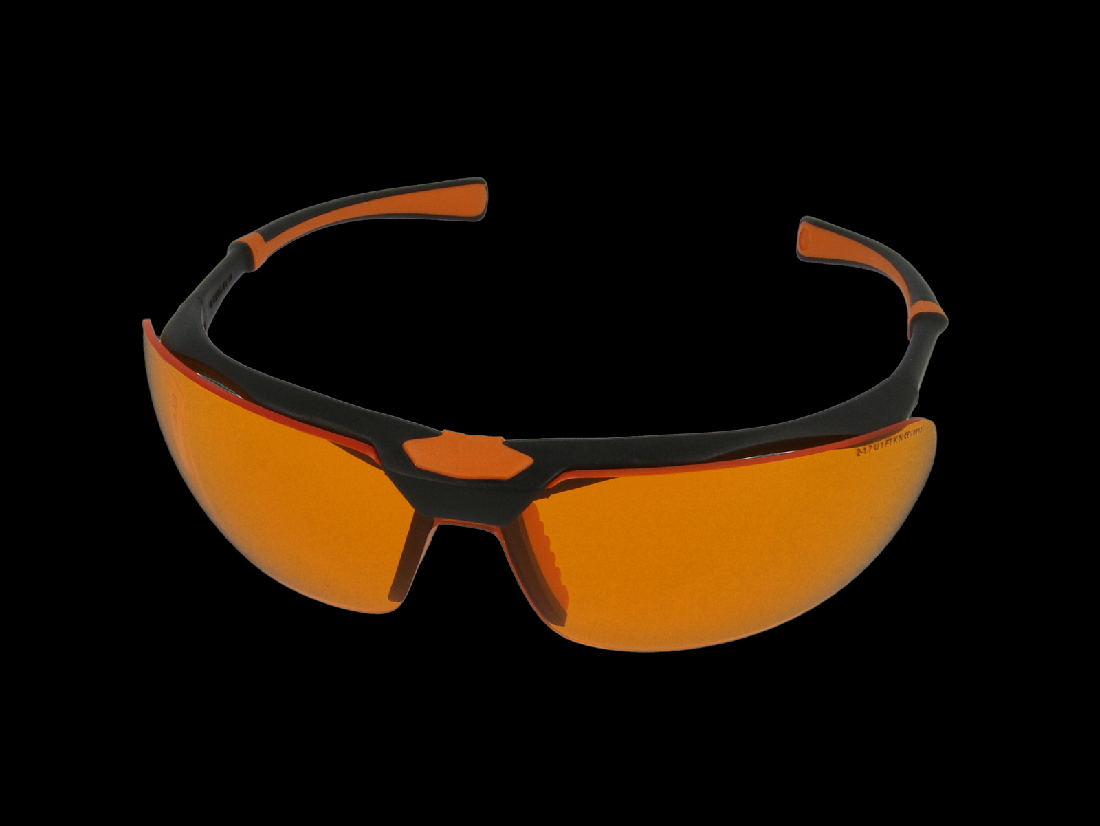 Monoart Schutzbrille Stretch, orange, Frontansicht