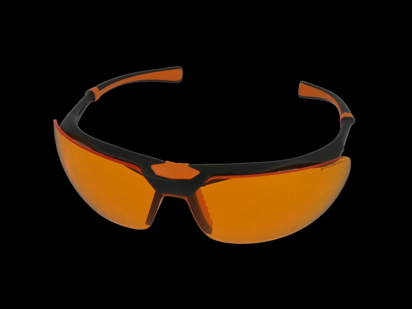 Monoart Schutzbrille Stretch, orange, Frontansicht