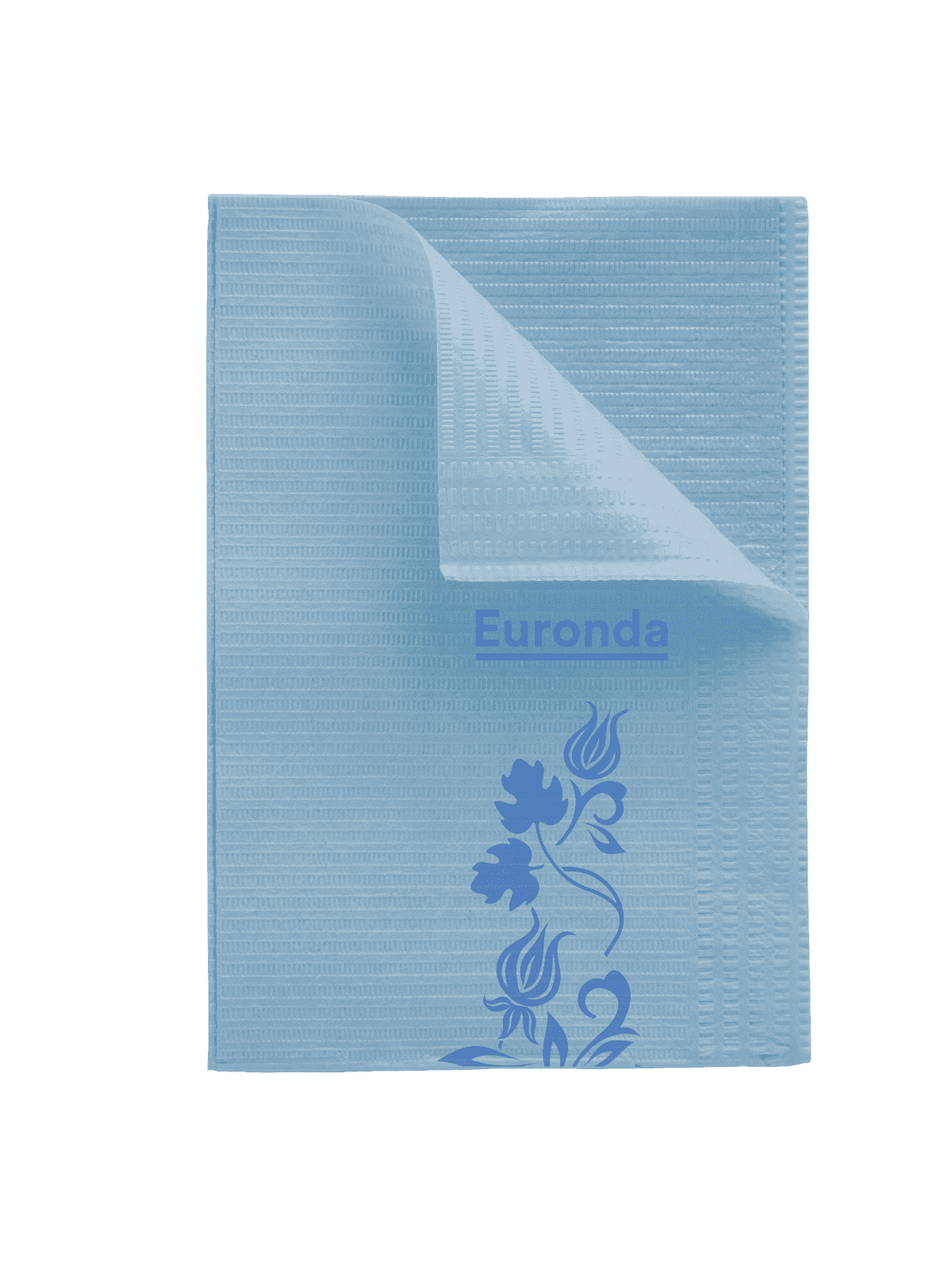 Design Patientenservietten Towel Up Flower blau
