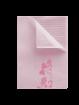 Design Patientenservietten Towel Up Flower rosa