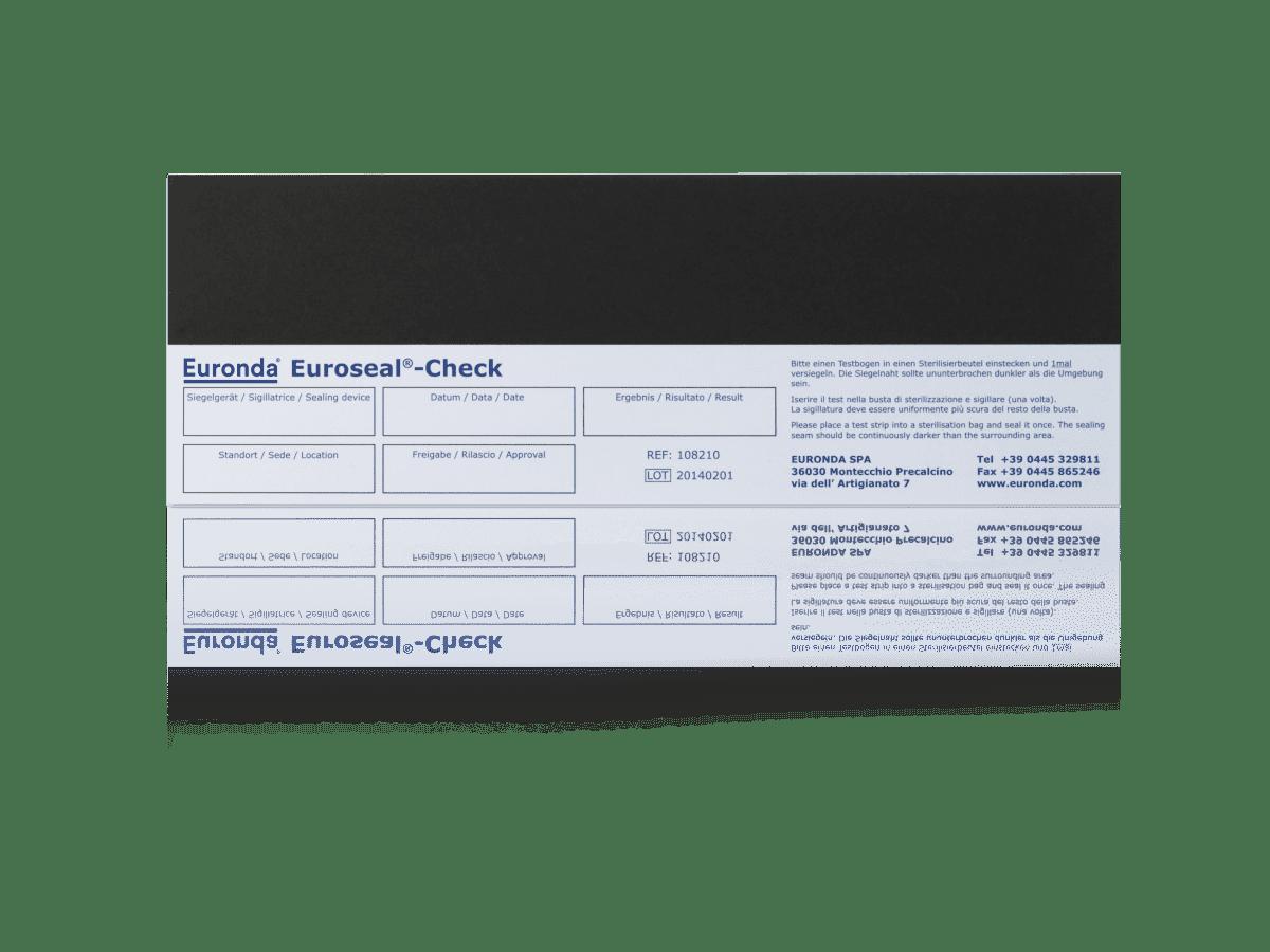 Sealcheck Teststreifen mit Dokumentationsfeldern