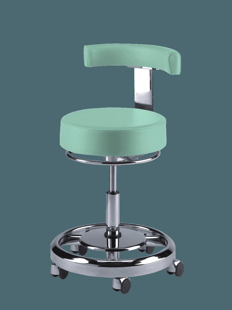 Zahnarztstuhl CDS 301 hellgrün genähtes Polster