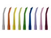 Monoart Kinder Absaugkanülen EVO, neun Farben
