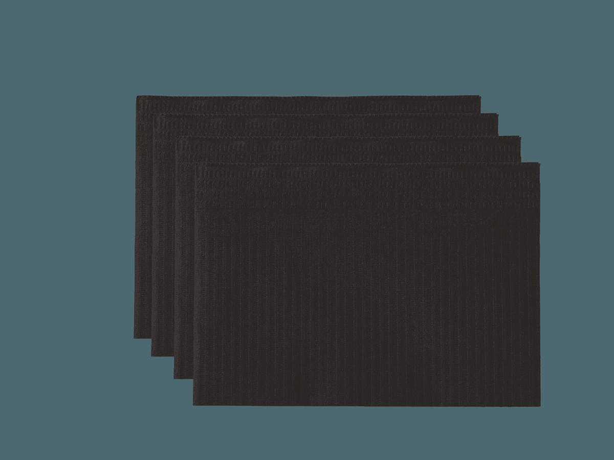 Saugfähige Patientenserviette schwarz, flüssigkeitsfest