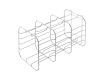 Traygestell für E9-Autoklaven