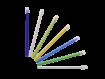 Monoart Speichelsauger 12,5 cm, mit fester Kappe