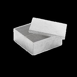 Siebkorb mit Deckel für Kleinteile