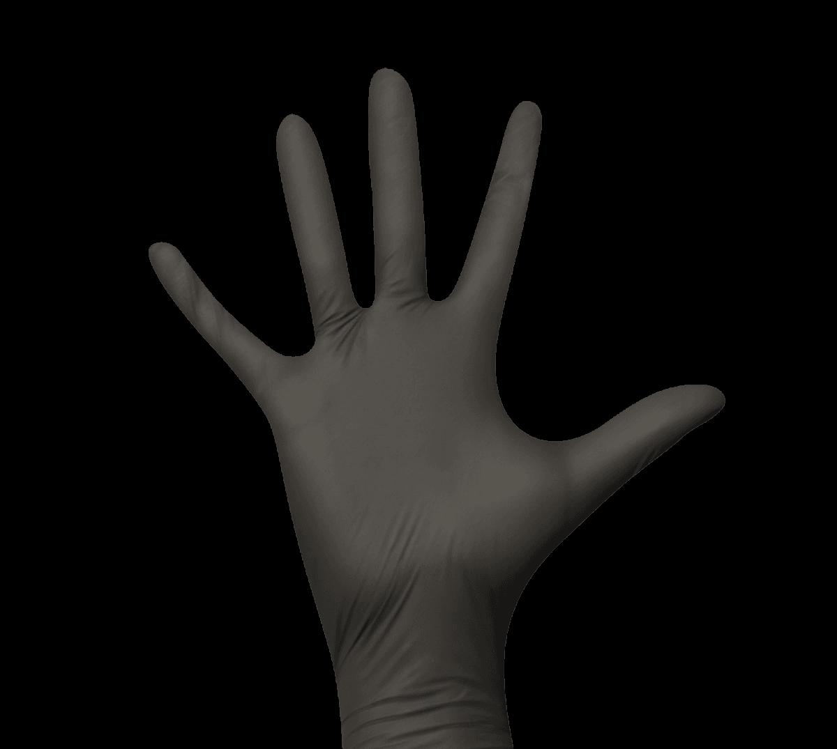 Schwarze Einmalhandschuhe Nitril XS-L
