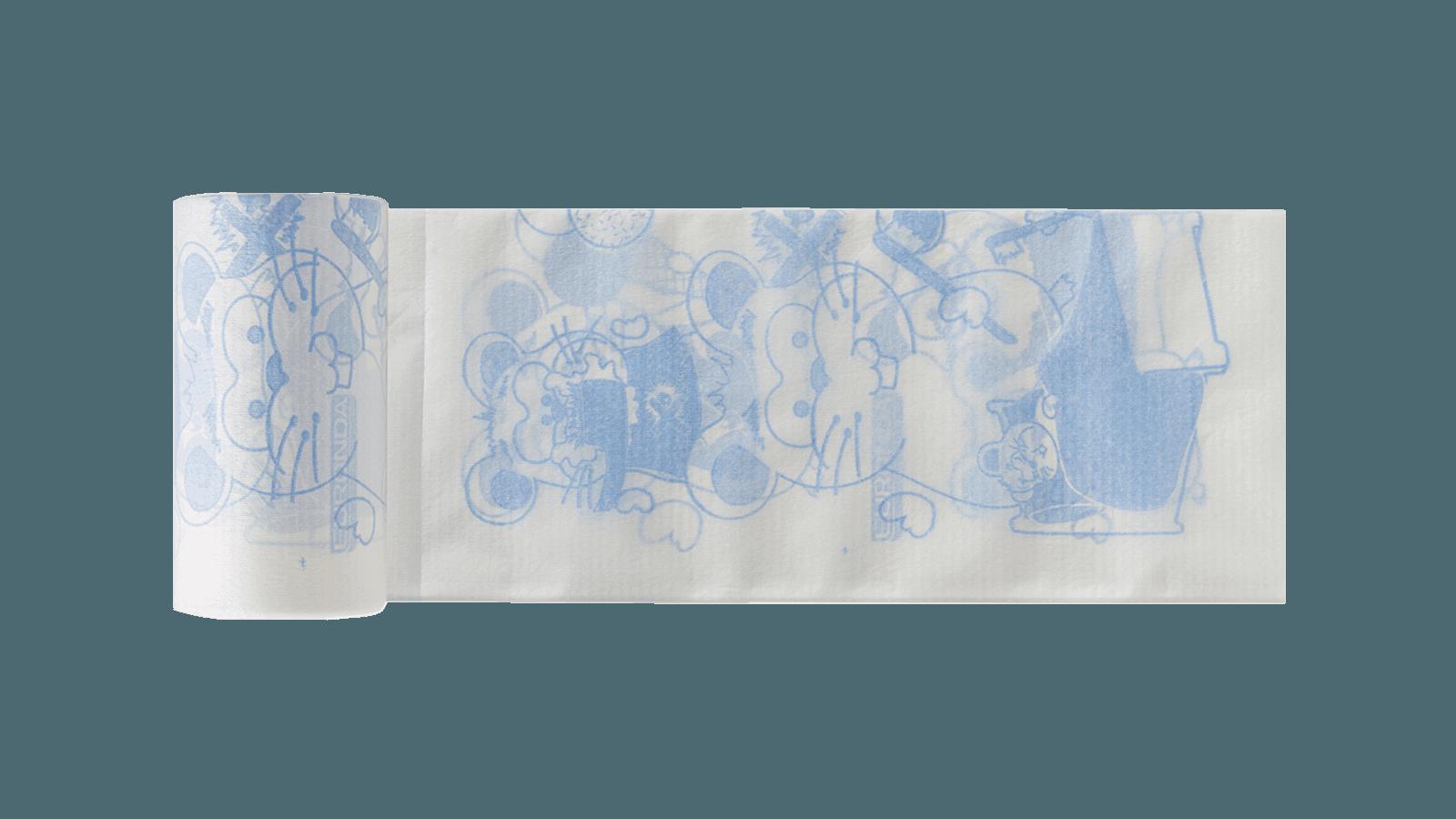 Monoart Kinderservietten 35 x 40 cm blau
