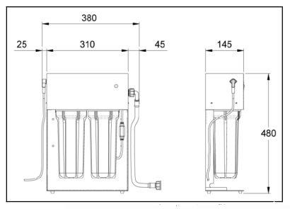 Aquafilter 1 to 1 zur Herstellung von demineralisiertem Wasser