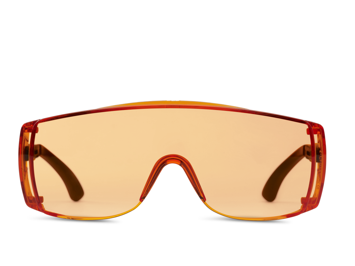 Monoart Schutzbrille Light Orange - Front