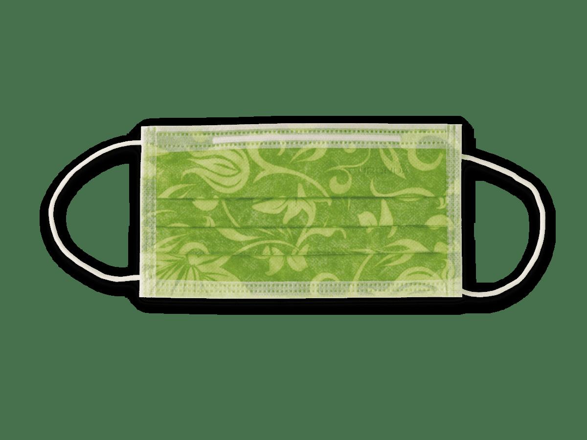 Euronda Mundschutz mit Motiv Flower cedrogrün