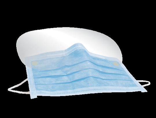 Monoart Mund-und Augenschutz mit Gummizug blau