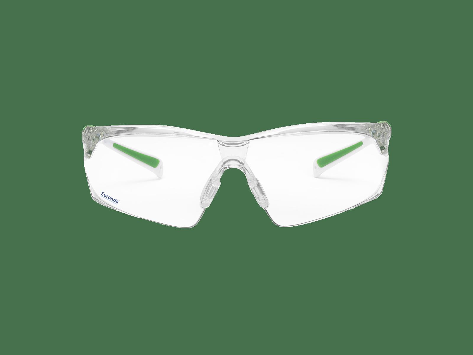 Leichte Schutzbrille FitUp grün - beschlagfrei & kratzfest