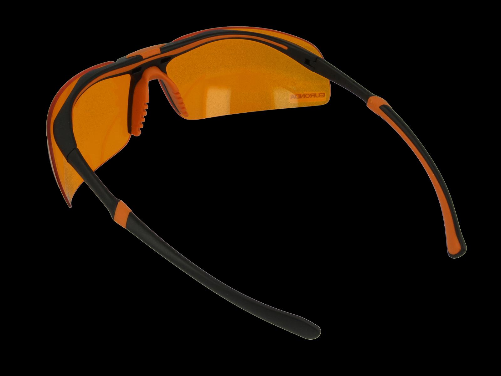 Monoart Schutzbrille Stretch, orange, Rückansicht