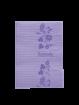 Design Patientenservietten Towel Up Flower lila