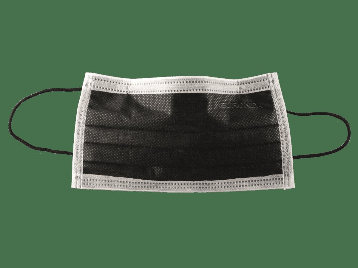 Monodark Mundschutz schwarz mit Gummizug | Euronda Praxisbedarf