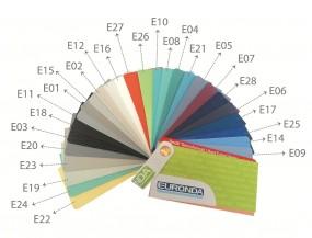 Farbmusterkarte für EURONDA-Arbeitsplatzstühle