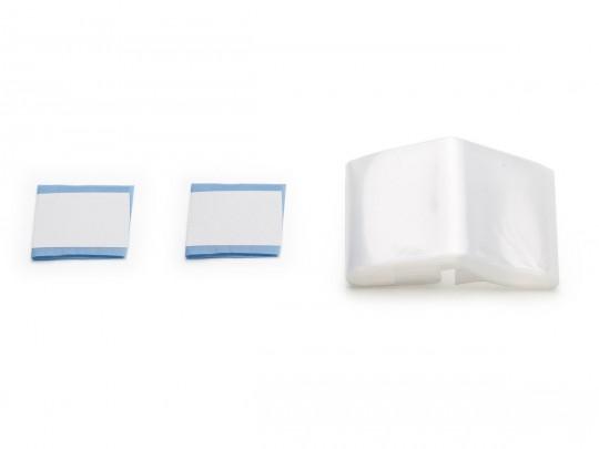 Schlauchüberzug transparent mit Klebestreifen