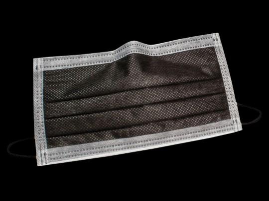 Monodark Mundschutz schwarz mit Gummizug