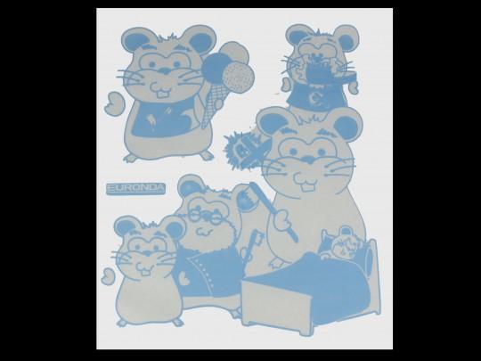 Monoart Kinderservietten BOY - blau/weiß, 35 x 40 cm