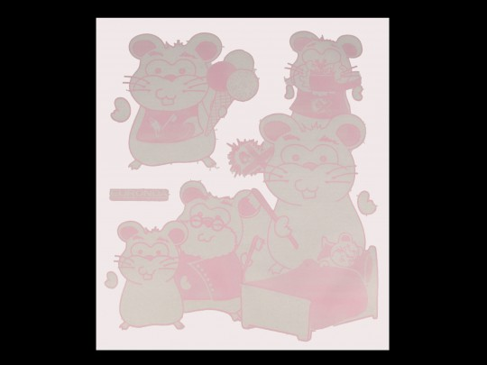 Monoart Kinderservietten GIRL - rosa/weiß, 35 x 40 cm