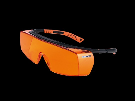 Monoart Schutzbrille Cube - mit Lichtschutzfilter orange