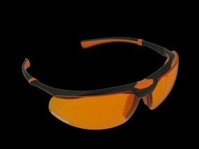 Monoart Schutzbrille Stretch - mit Lichtschutzfilter orange